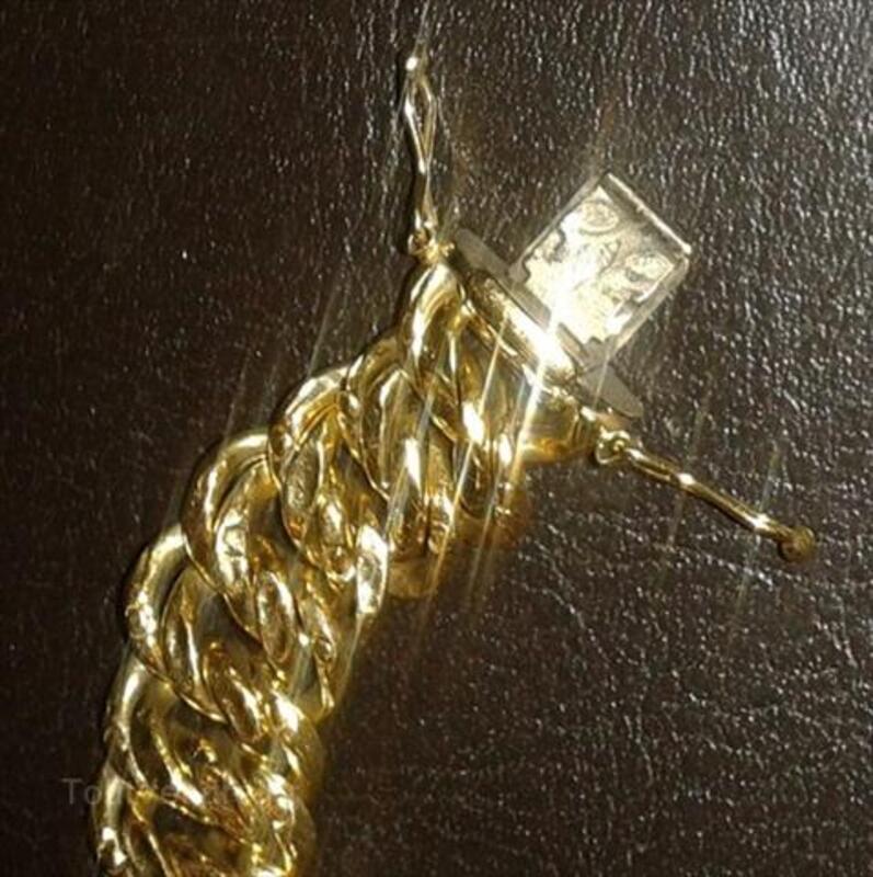 Bracelet maille americaine en or 18 carats 64423876