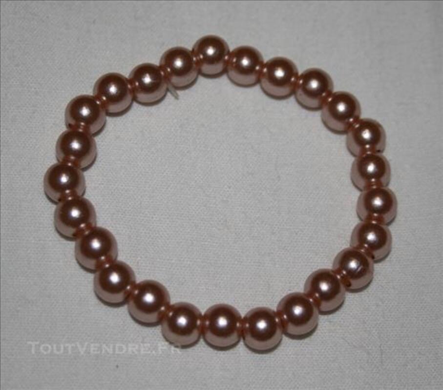 Bracelet perles modèles différents 1 rose 2 noir 1 gris 77982037