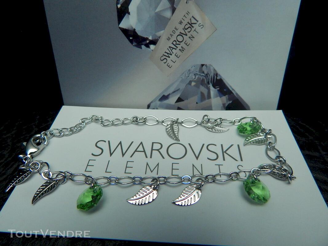 Bracelet pierre swarovski vert neuf 116174396