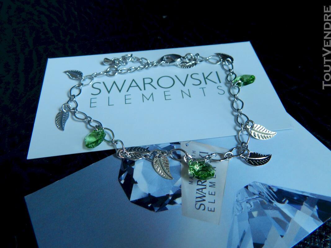 Bracelet pierre swarovski vert neuf 116174397