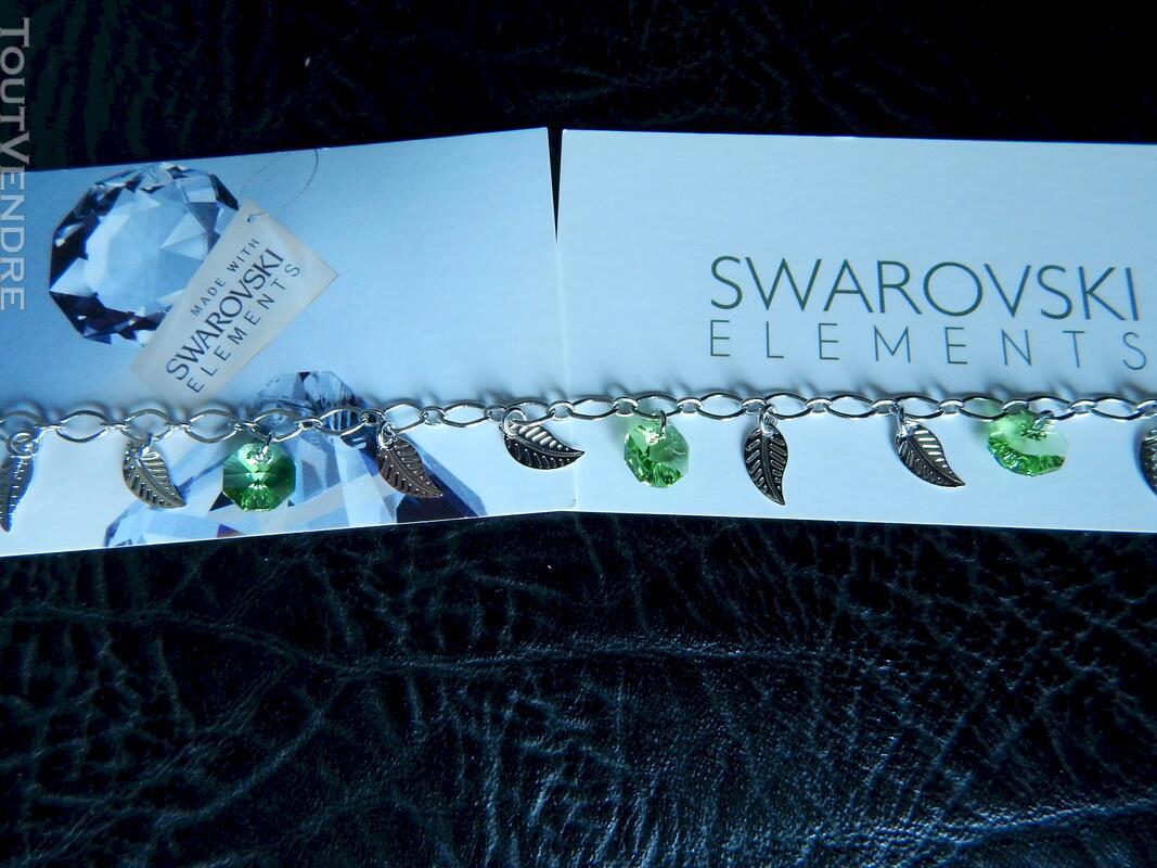 Bracelet pierre swarovski vert neuf 116174398