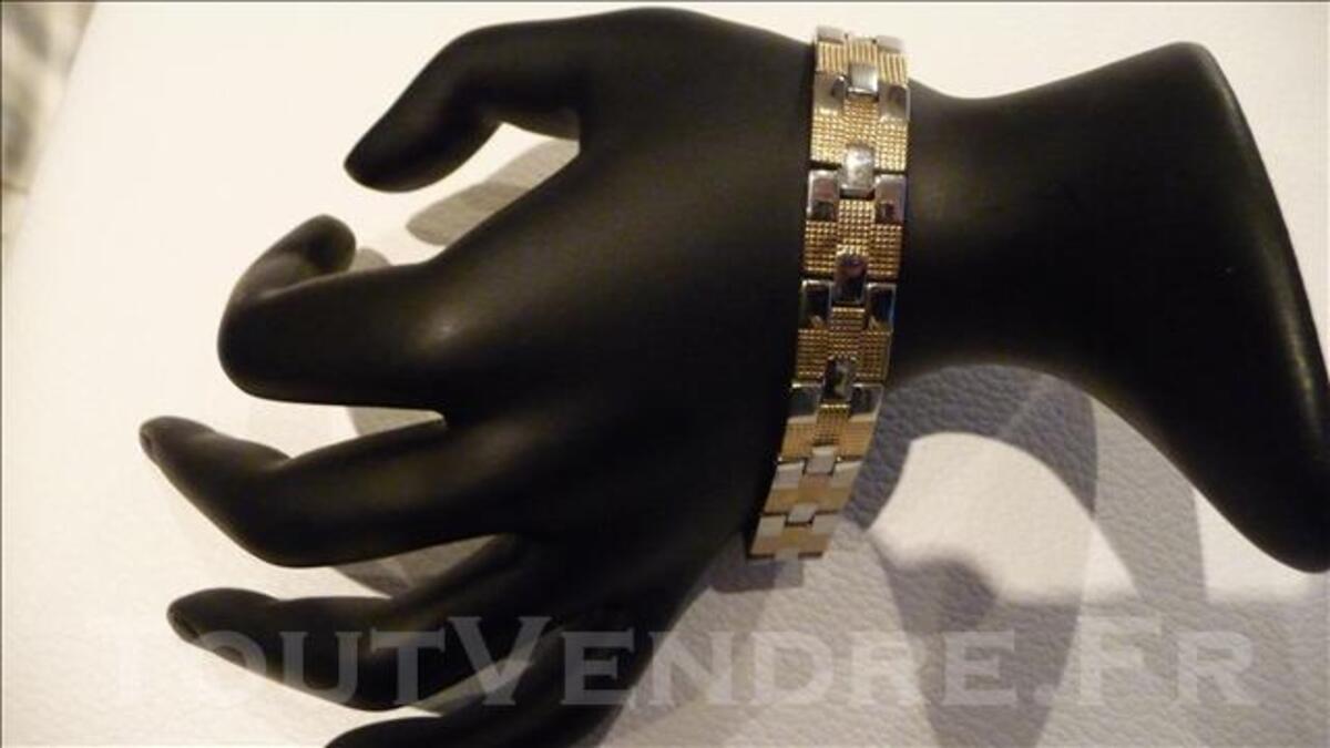 Bracelet soldé acier bicolore neuf petit prix 76098387