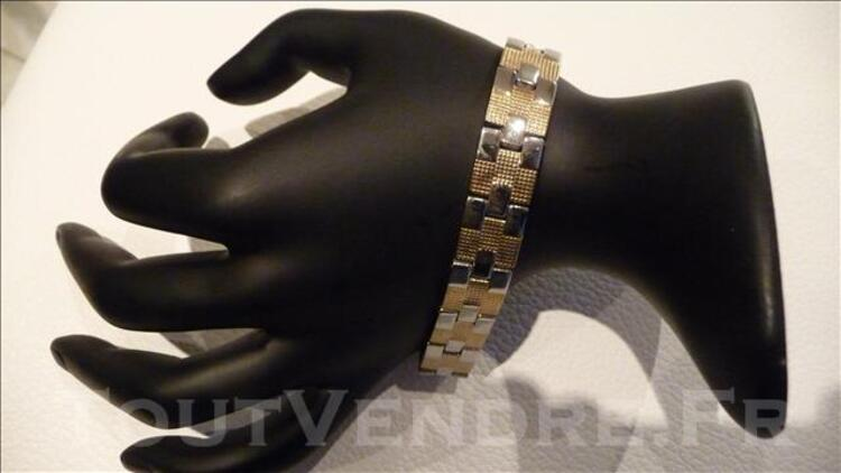 Bracelet soldé acier bicolore neuf petit prix 76098388