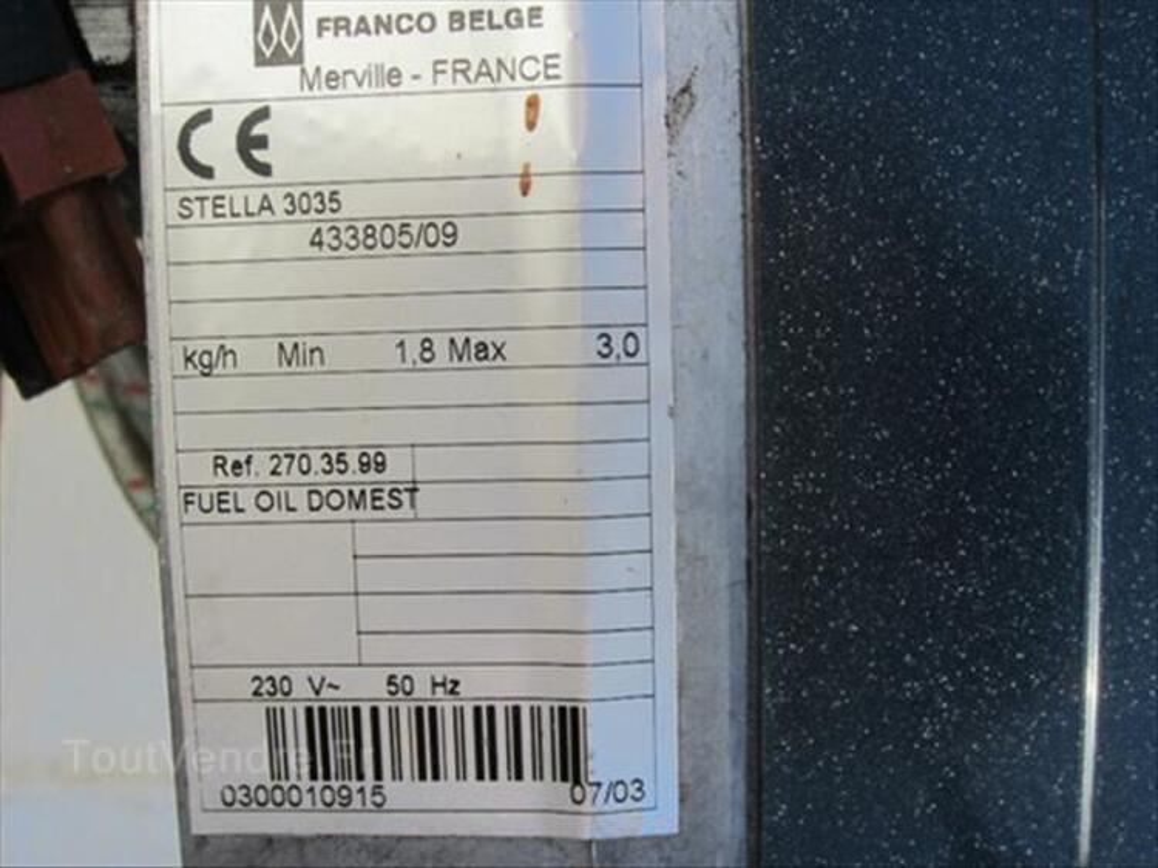 Bruleur fioul Stella Franco Belge et sondes int ext 54461002