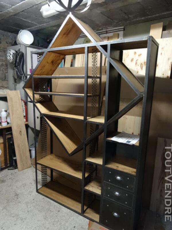 Bureau, bibliothèque , console style industriel 231178667