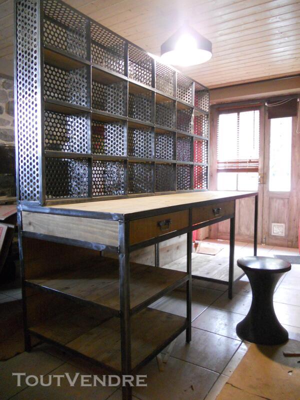 Bureau, bibliothèque , console style industriel 231182177