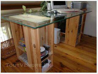 Bureau Ikea plateau en verre