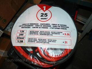 Cable de demarrage voiture / camion 25mm²