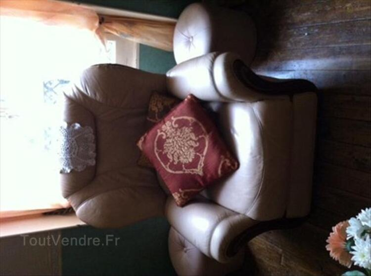 CANAPE + 1 FAUTEUIL CUIR 87345223