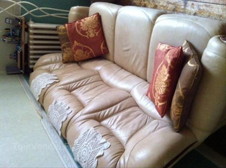 CANAPE + 1 FAUTEUIL CUIR 87345224