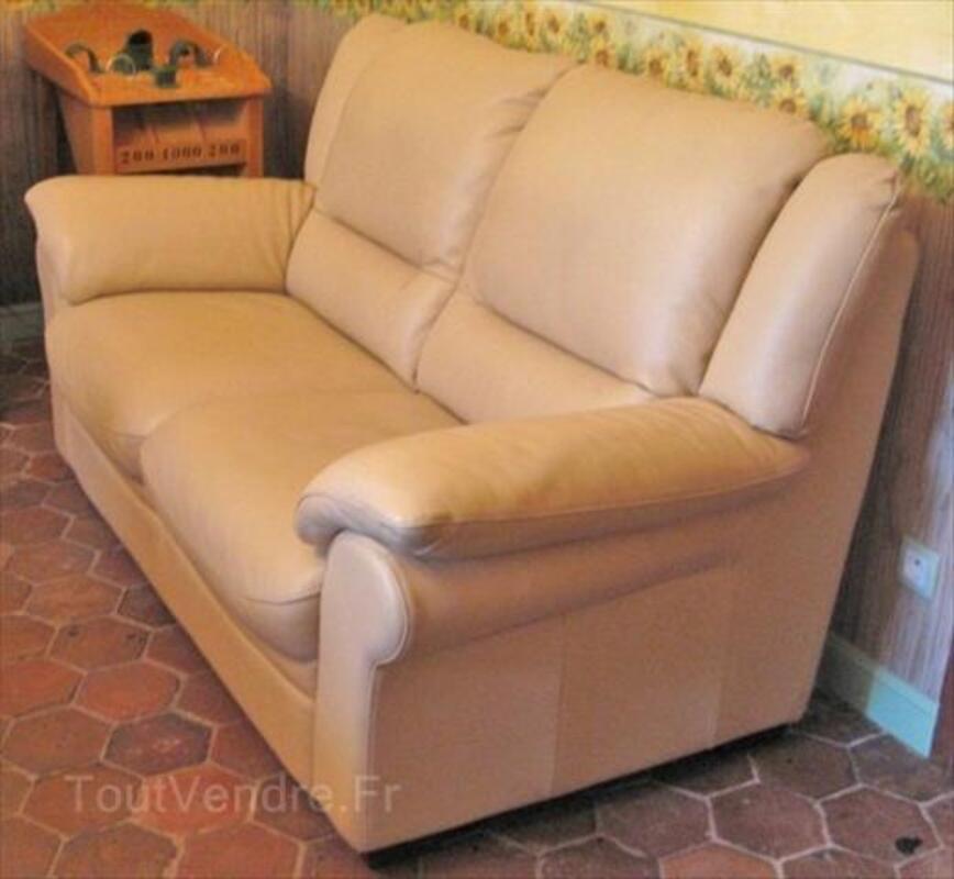 Canapé 2 places cuir 55868607