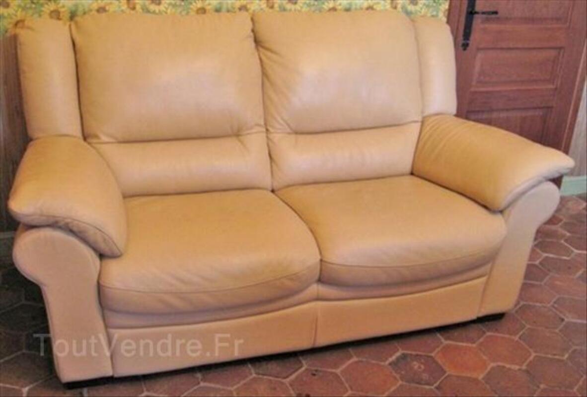 Canapé 2 places cuir 55868609