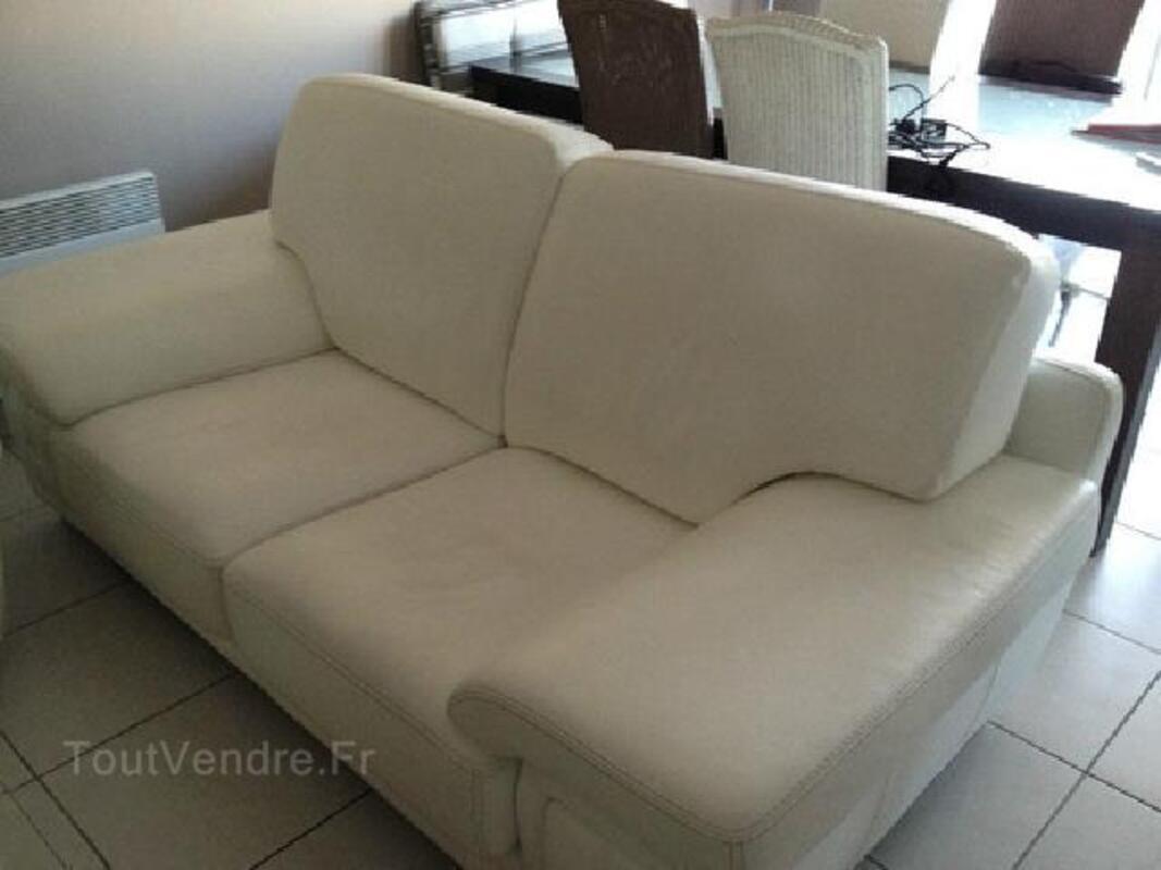 Canapé 2 places en cuir blanc 95902379