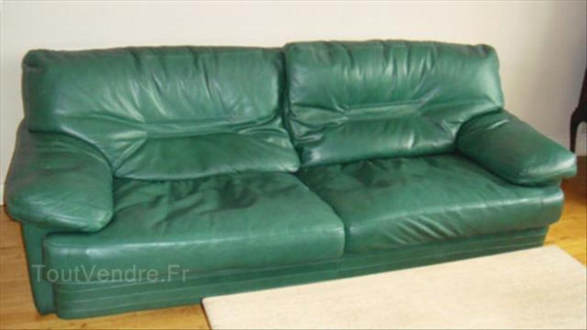 Canapé 3 - 4 places cuir de buffle ROCHE BOBOIS 54469332
