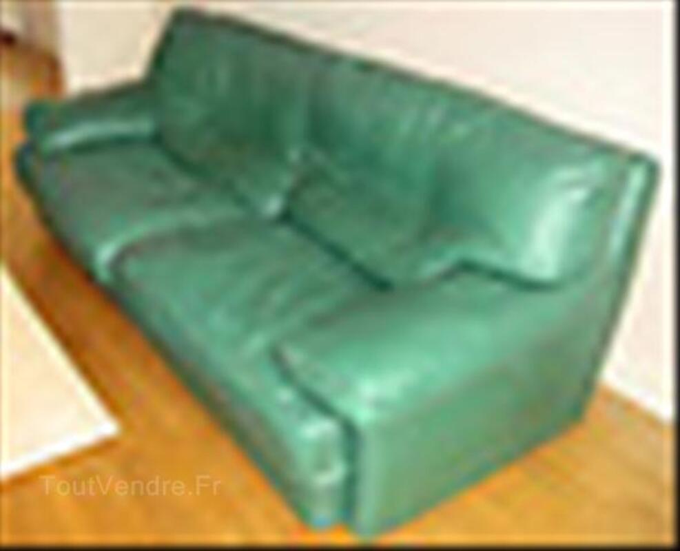 Canapé 3 - 4 places cuir de buffle ROCHE BOBOIS 54469334