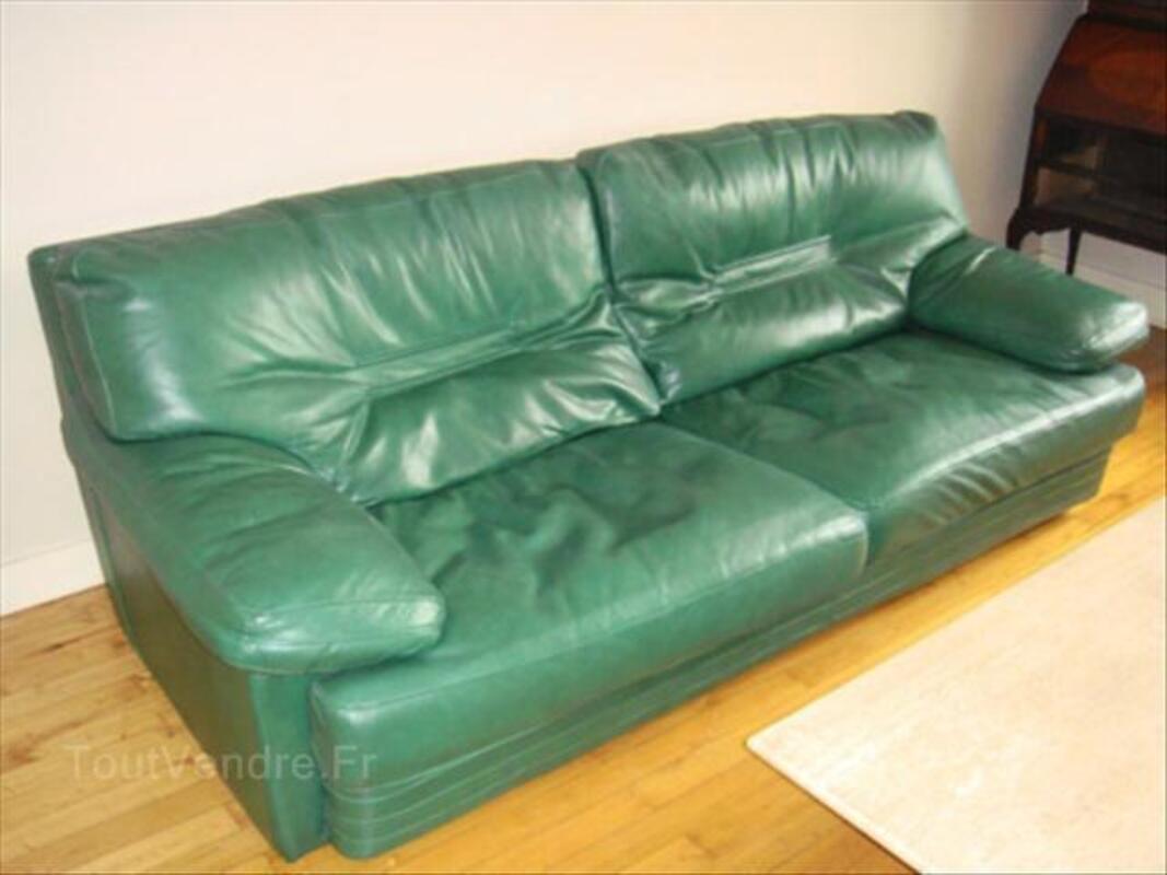 Canapé 3 - 4 places cuir de buffle ROCHE BOBOIS 54469335