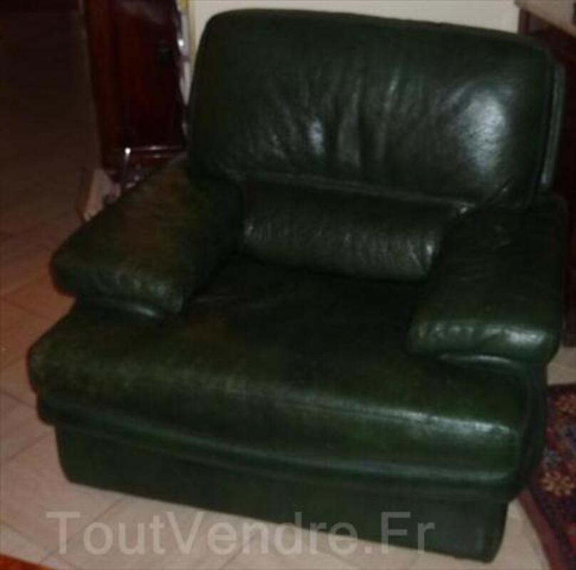 Canape 3 places + 2 fauteuils cuir Roche Bobois 64457656