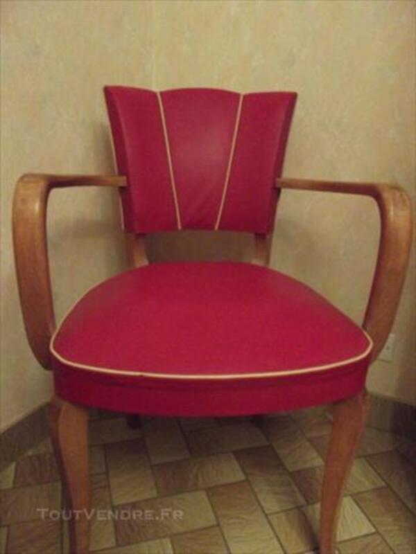 Canapé club moustache + fauteuil vintage en skai 1950 86212709