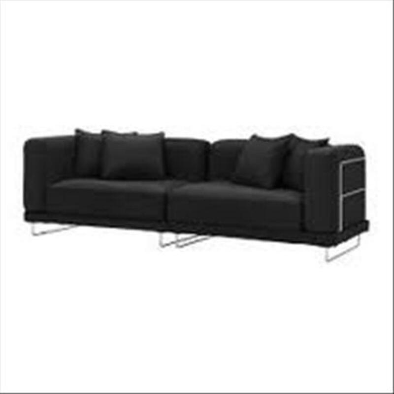 Canapé convertible IKEA TYLOSAND tissu noir 41719598
