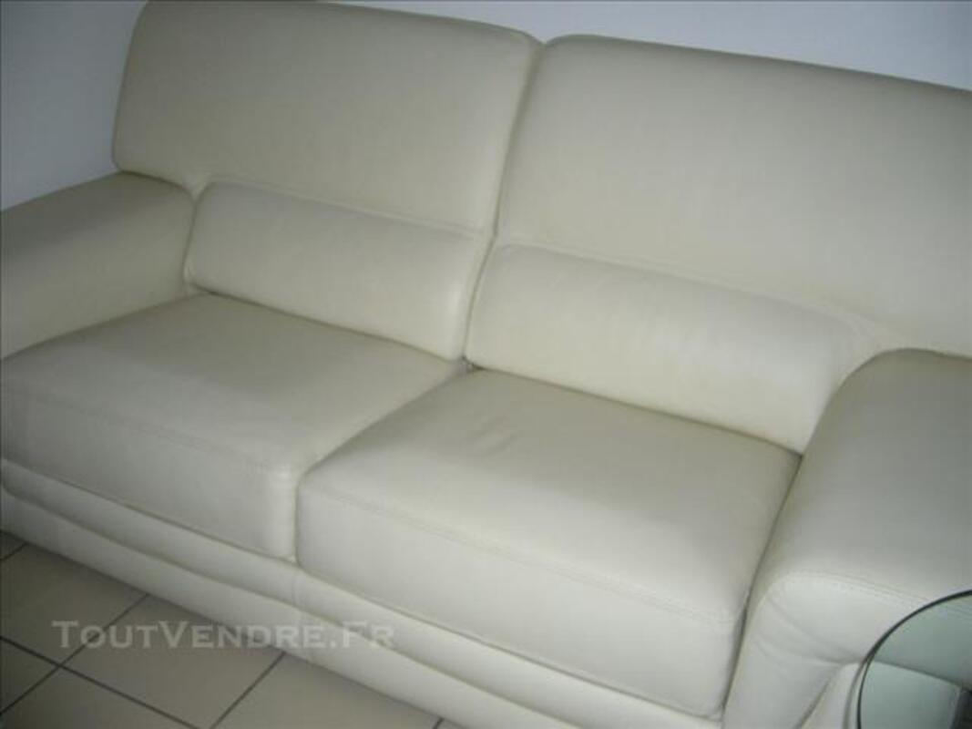 Canapé cuir blanc casse 84571607