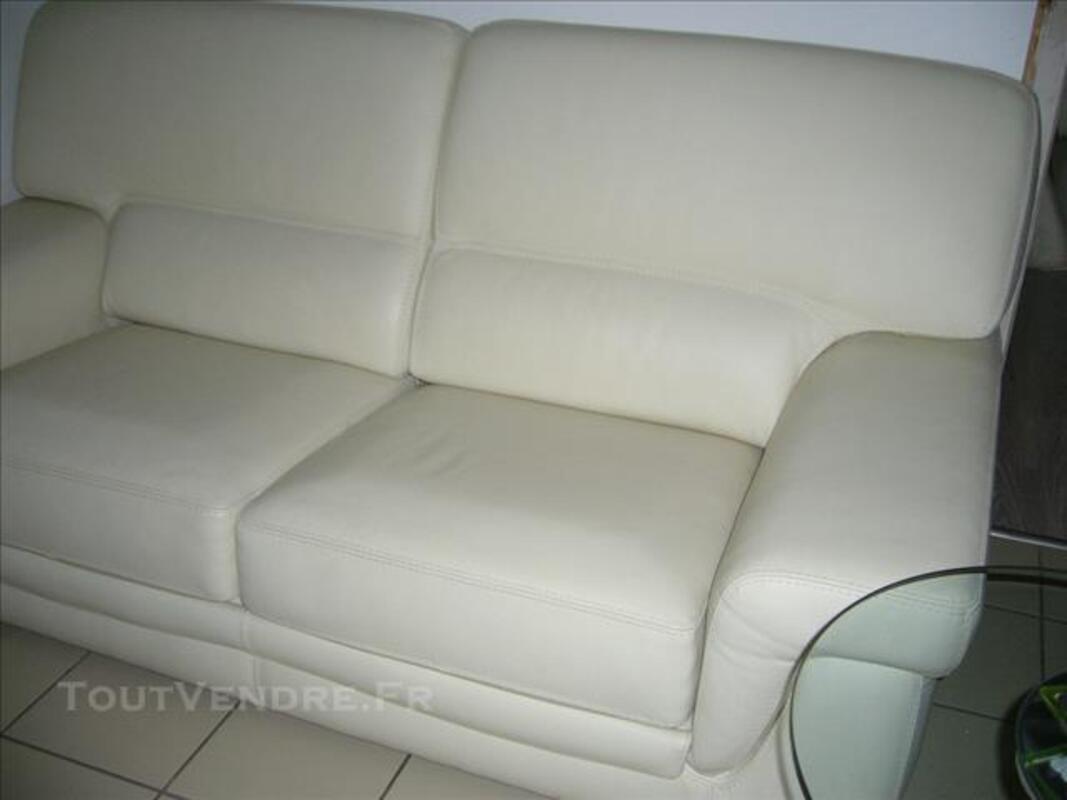 Canapé cuir blanc casse 84571608