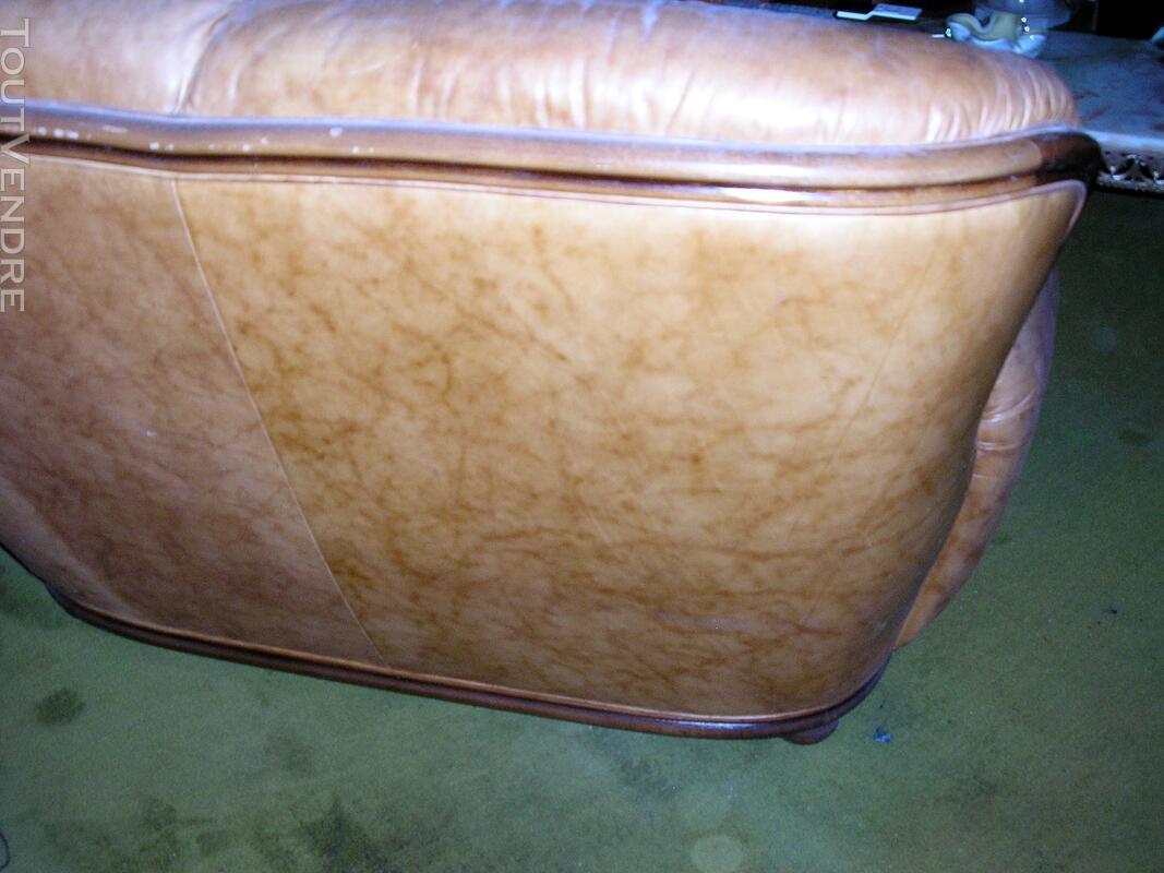 Canapé cuir fauve 2 places 125166970