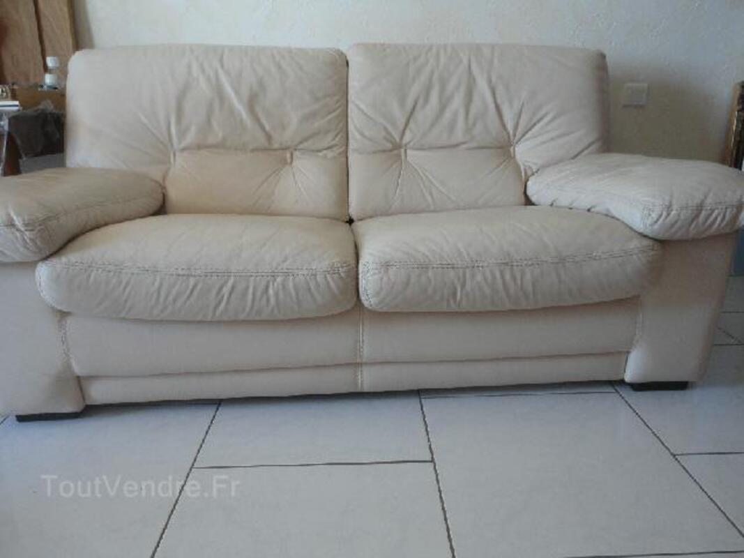 Canape cuir (marque cuir center) 93616356