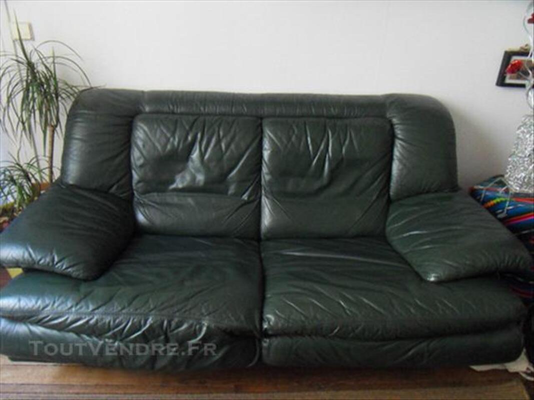 Canapé cuir + son fauteuil 86208665