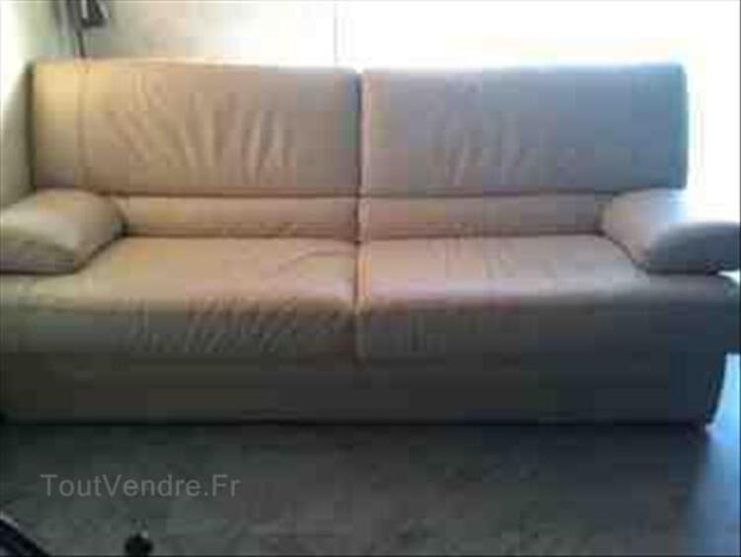 Canapé en cuir beige 87913549