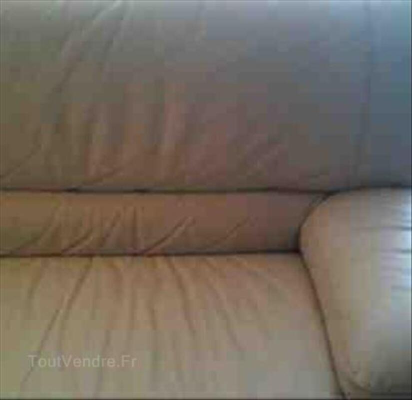 Canapé en cuir beige 87913550