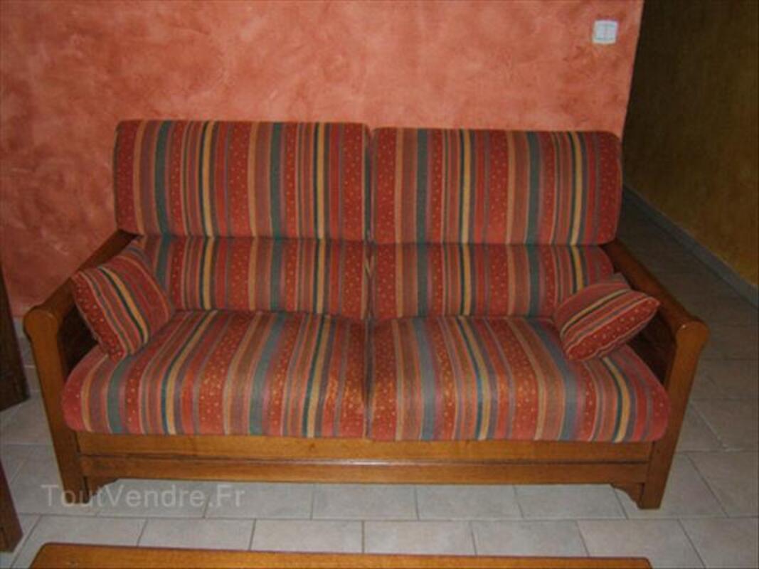 Canapé rustique 3 places + 2 fauteuils 64401277