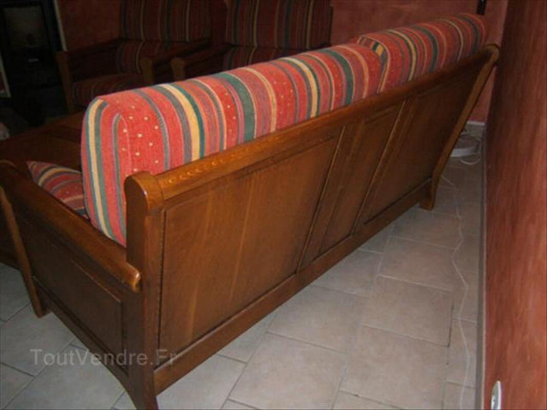 Canapé rustique 3 places + 2 fauteuils 64401278