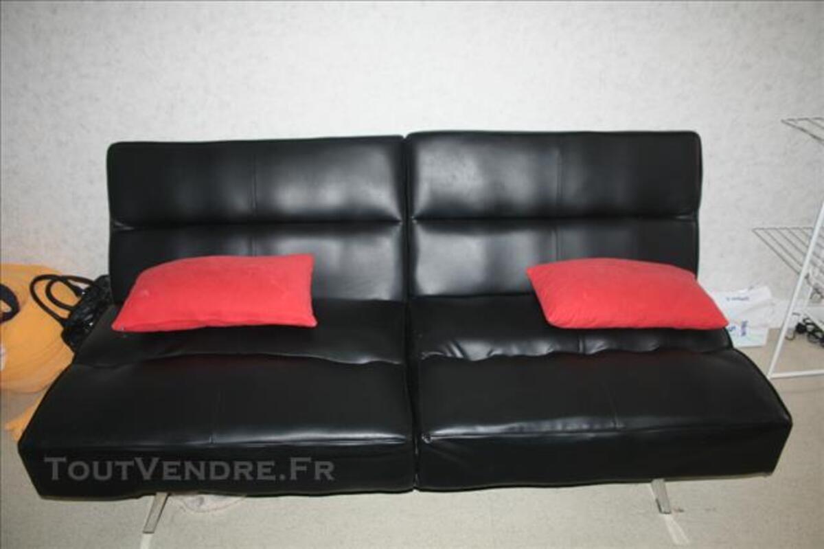 Canapé simili cuir convertible 85808982