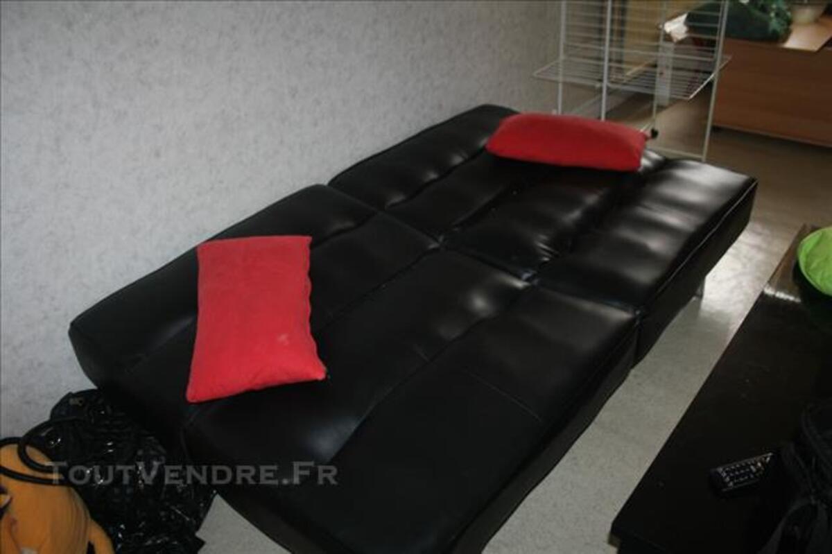 Canapé simili cuir convertible 85808983