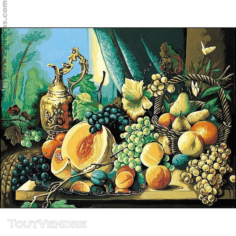 CANEVAS NATURE MORTE COMPOSITION DE FRUITS  REALISER 438260570