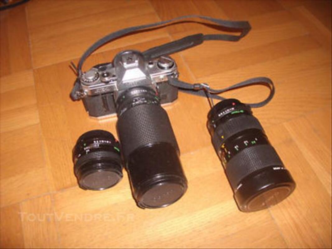 CANON AE1 avec objectifs 50mm, zoom35/70,zoom 70/210 84781830