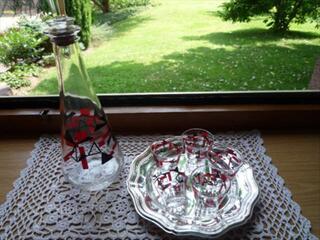 Carafe ancienne Liqueur ou autre avec  verres