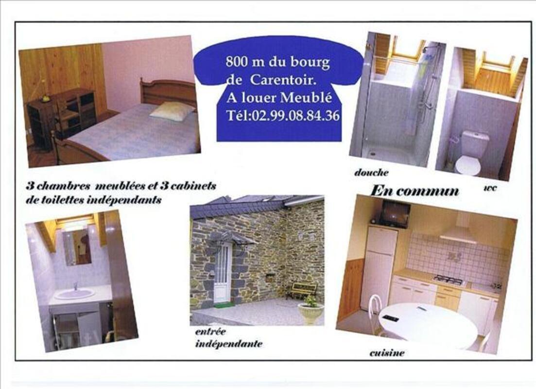 CARENTOIR, location chambre, cuisine meublées TBE 2508994