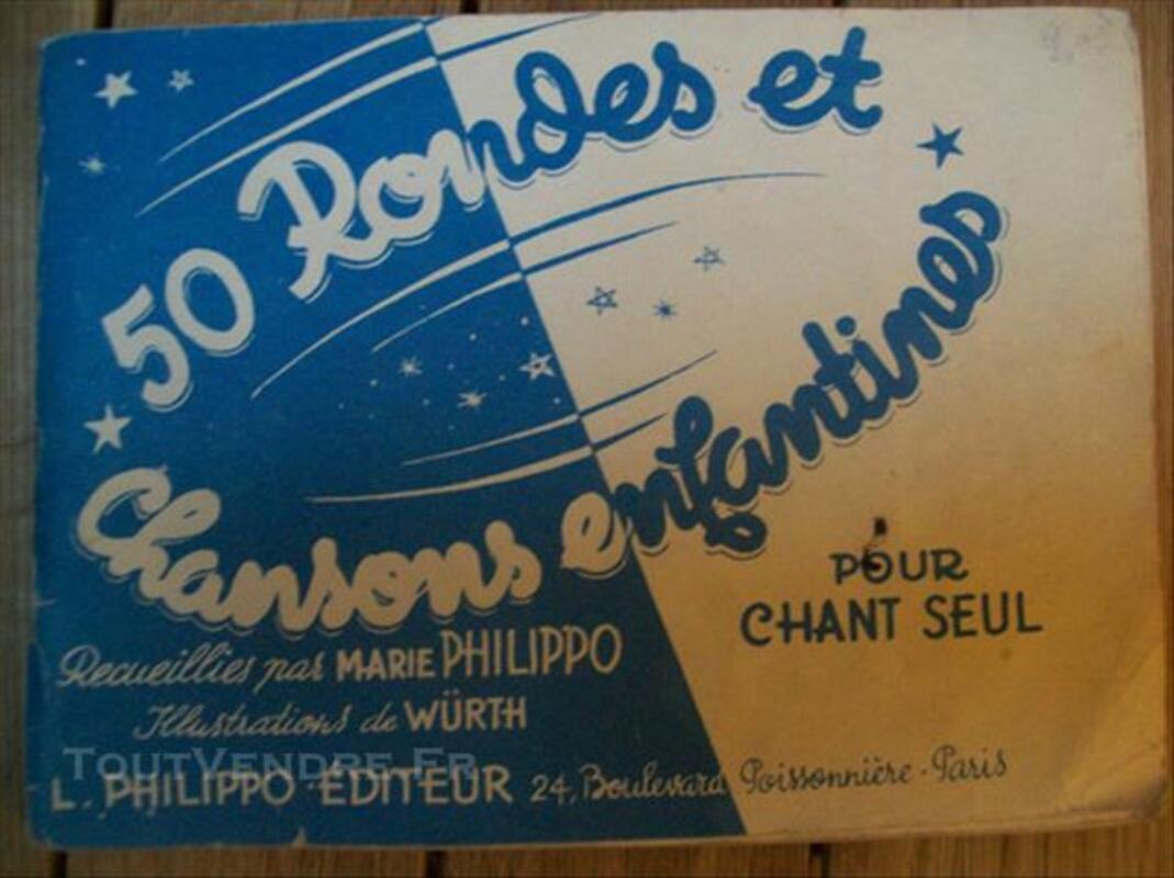 Carnet de chansons enfantines années 40-50 76119153