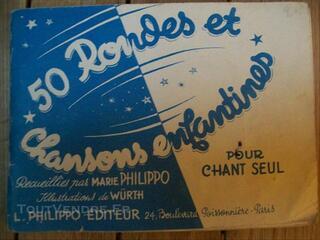Carnet de chansons enfantines années 40-50