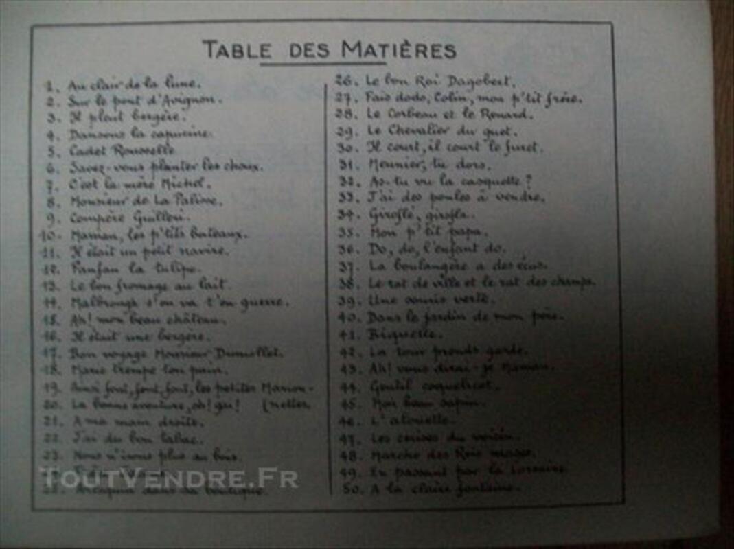 Carnet de chansons enfantines années 40-50 76119154