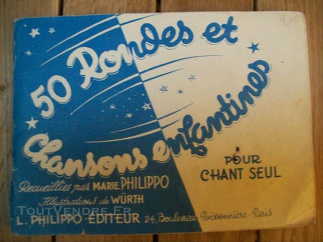 Carnet de chansons enfantines années 40-50 76119155