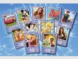 Carte auchan de  la collection  disney
