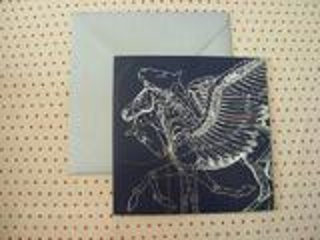 Carte de voeux Hermès Pégase avec enveloppe