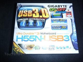 Carte mère Gigabyte H55 mini ITX, HDMI, USB 3