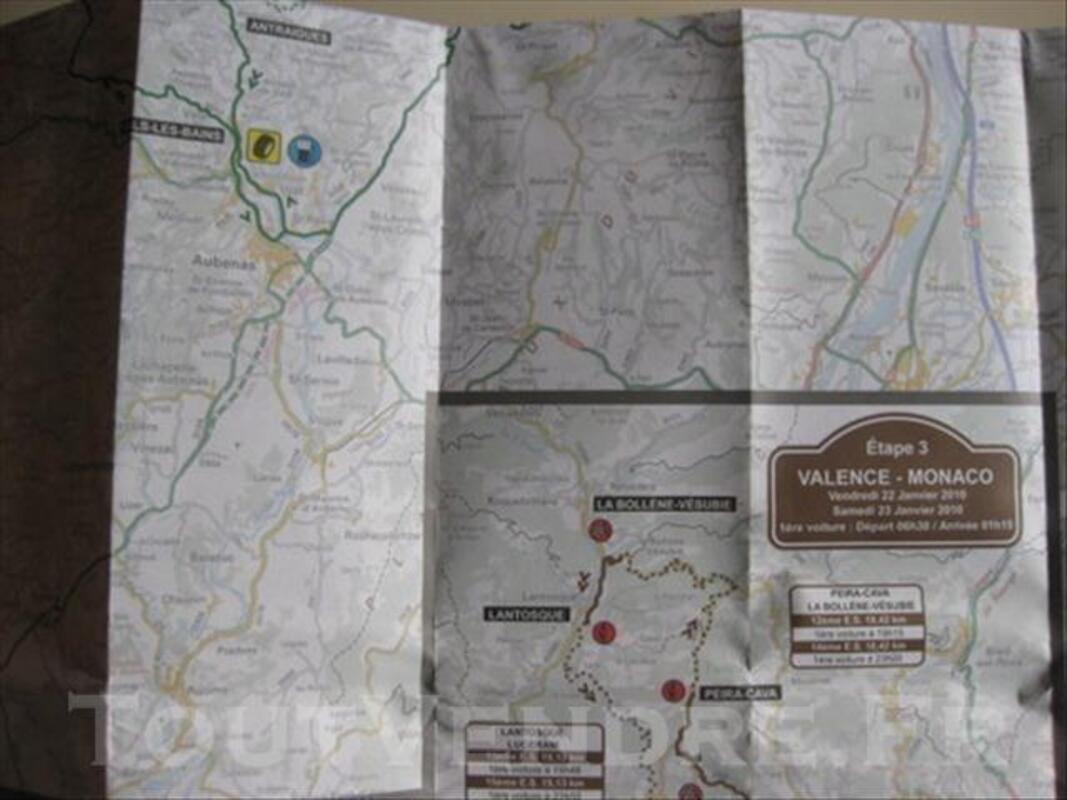 Carte routière Rallye Monte-Carlo 2010 73988726