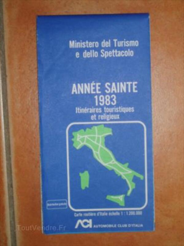 Carte Routière Religieuse Italie 1983 - Année Sainte 87862588