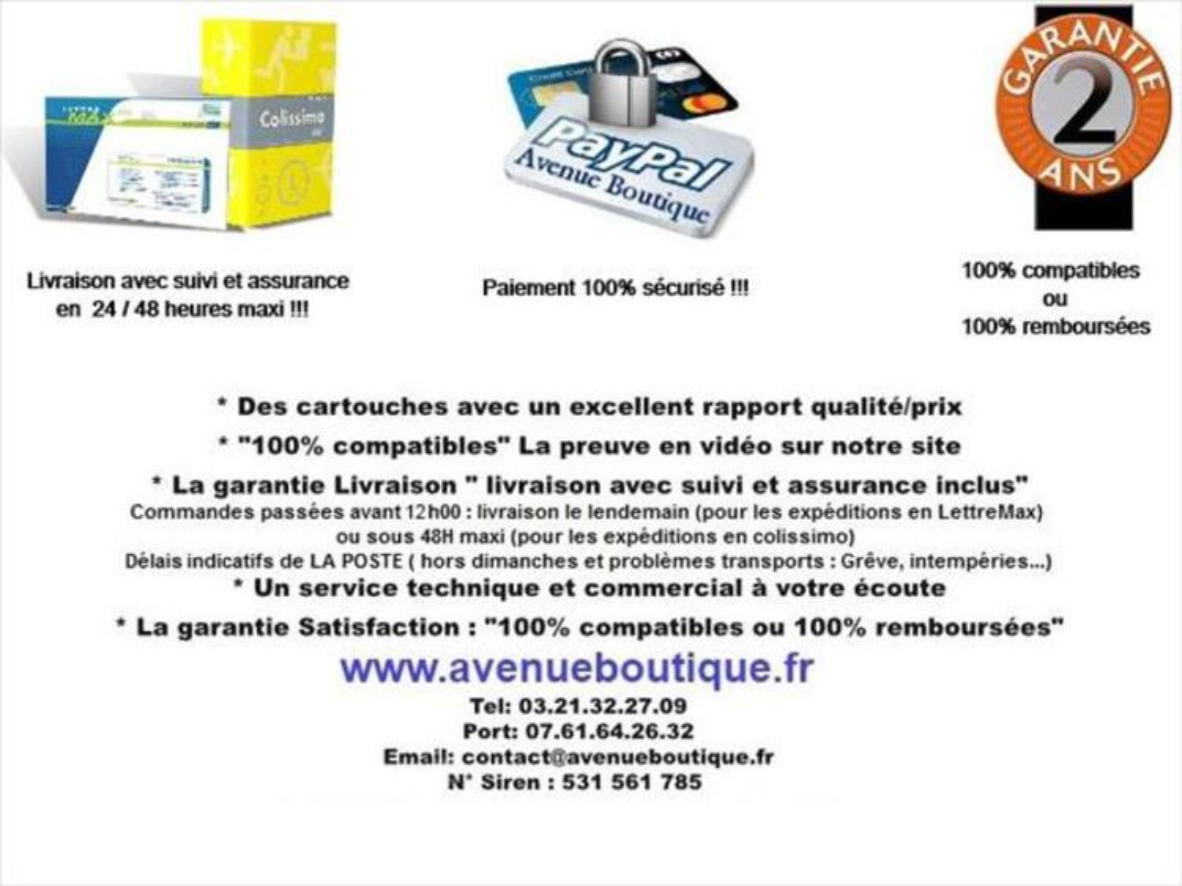 Cartouches 100% compatibles EPSON 97837924