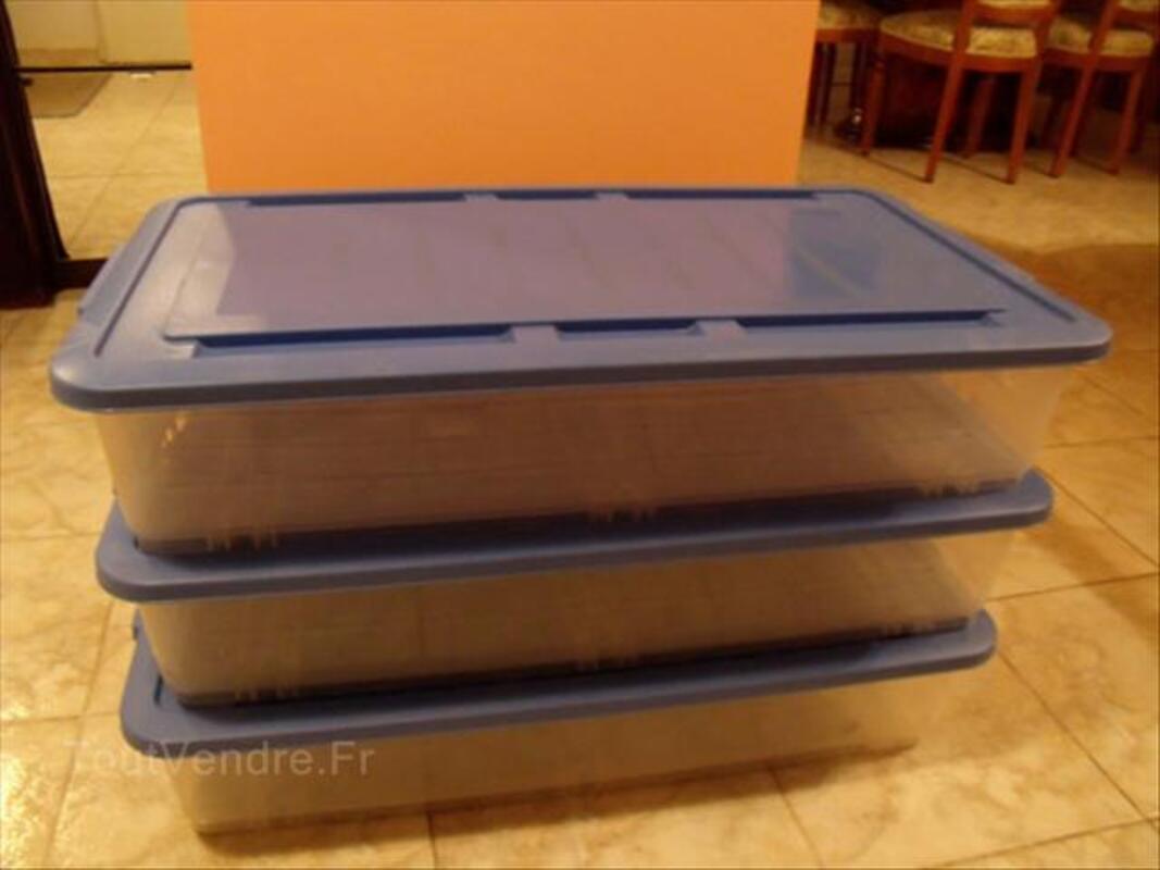 Casiers de rangement en plastique à roulettes 64454102