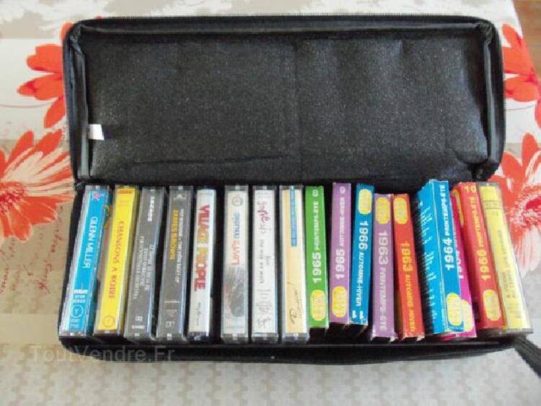 Cassettes audio +boitier de rangement 89544487